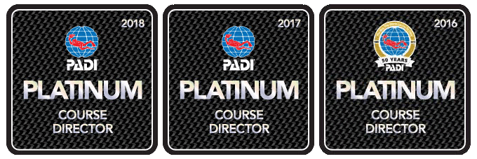 Well deserved Platinum PADI CD status.